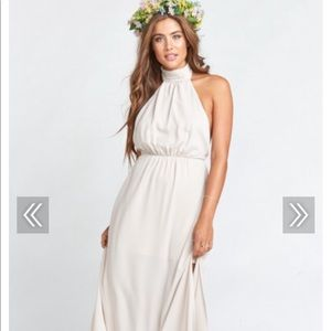 Show me your mumu Collette halter bridesmaid dress